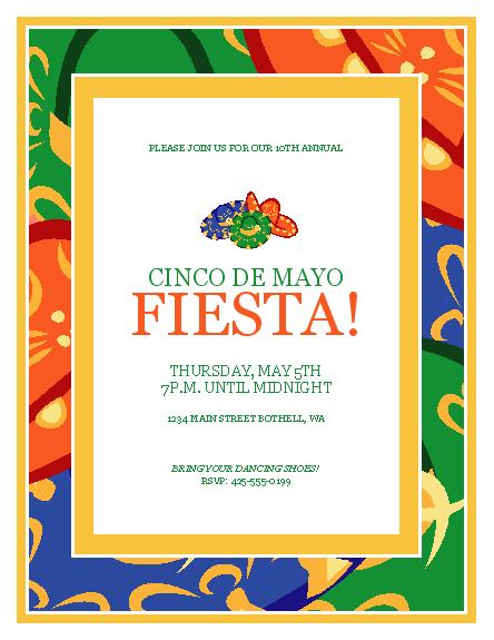 Cinco De Mayo Party Flyer Templates Office Cinco De Mayo