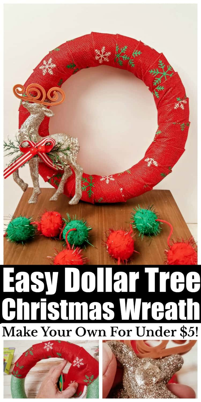 DIY Dollar Tree Christmas Wreathdollartreecrafts