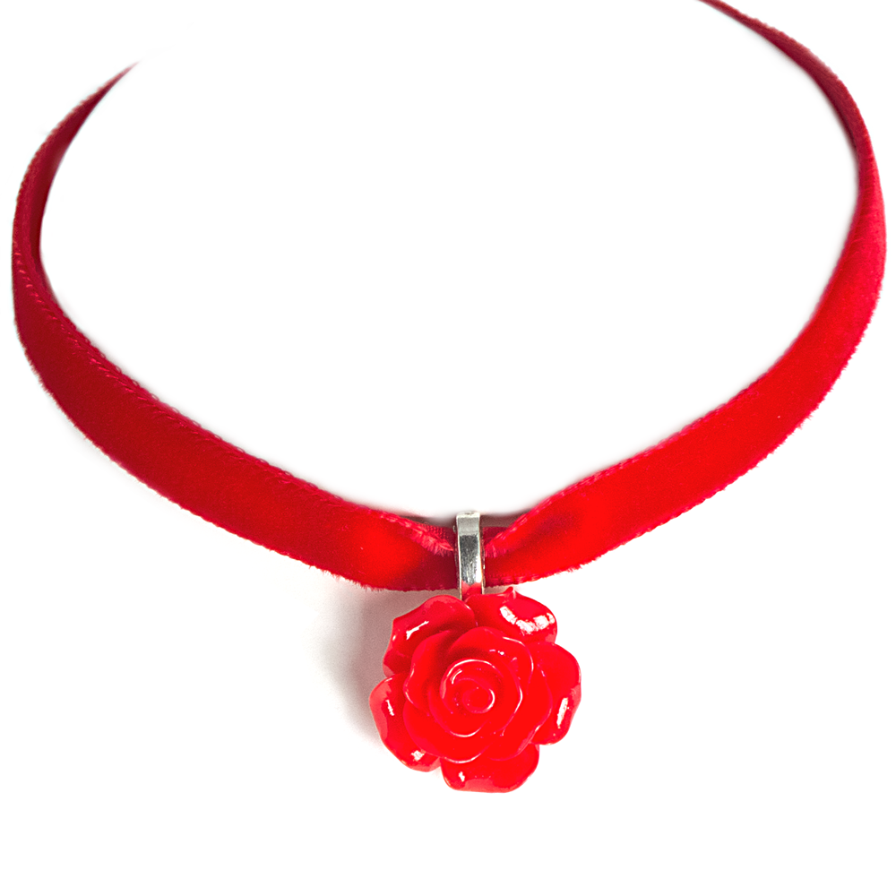 Racy red rose velvet choker necklace red adjustable velvet choker racy red rose velvet choker necklace red adjustable velvet choker necklace with resin red rose pendant on a silver bail size of red rose pendant 20mm mozeypictures Choice Image