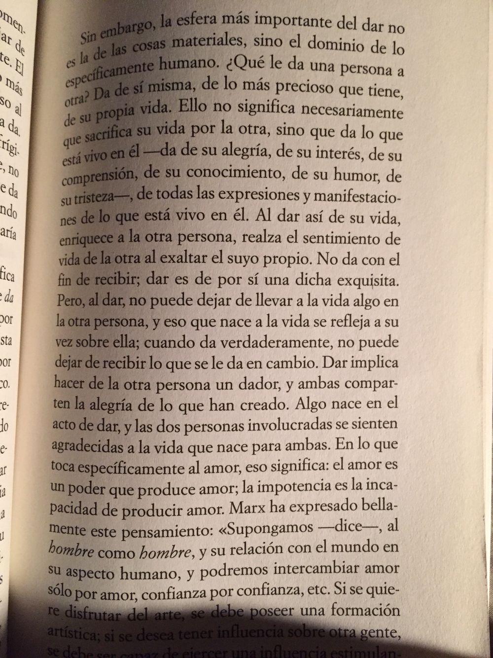 Fragmento Del Libro El Arte De Amar Autor Erich Fromm Frases Amar Frases Significas Mucho Para Mi