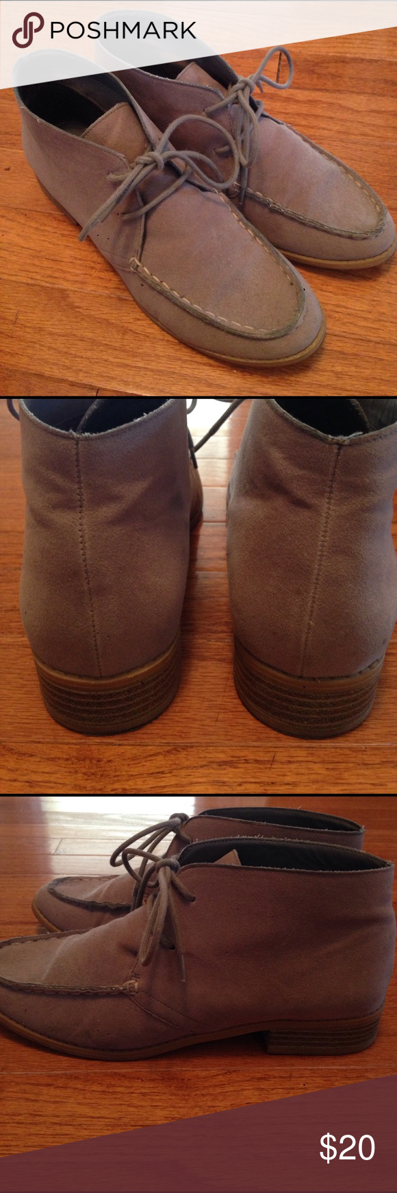 117eb5299a15 Old Navy Gray Suede Booties Old Navy Gray Booties