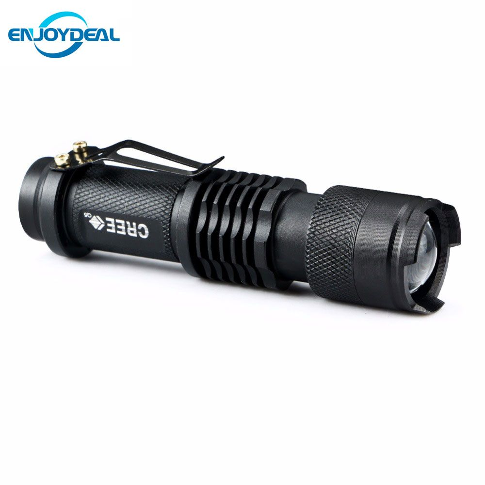 New Mini Flashlight 2000 Lumens Cree Q5 Led Torch Aa 14500 Adjustable Zoom Focus Torch Lamp Penlight Waterp Mini Flashlights Tactical Flashlight Led Flashlight