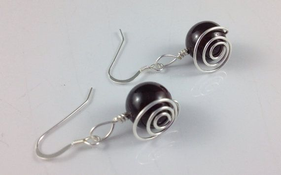 Garnet Spirals on Etsy, $18.00 CAD - Happy Birthday to all who celebrate in January