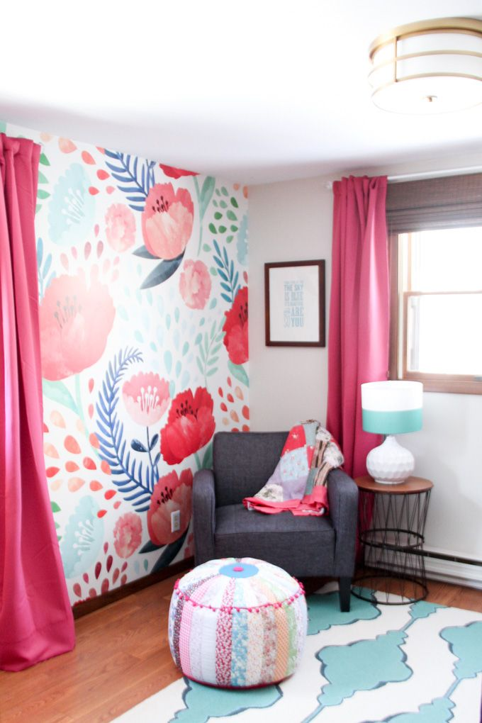 Modern Floral Little Girl Bedroom Reveal With Images Girls