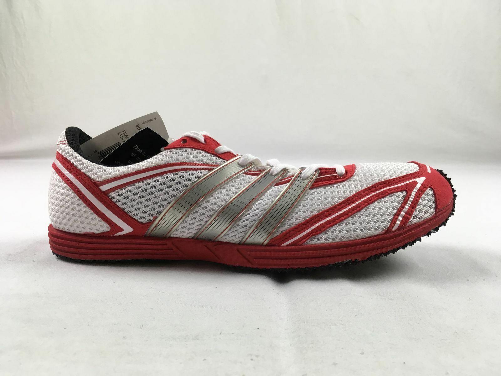 New adidas adizero cadence red cleats mens 75 20