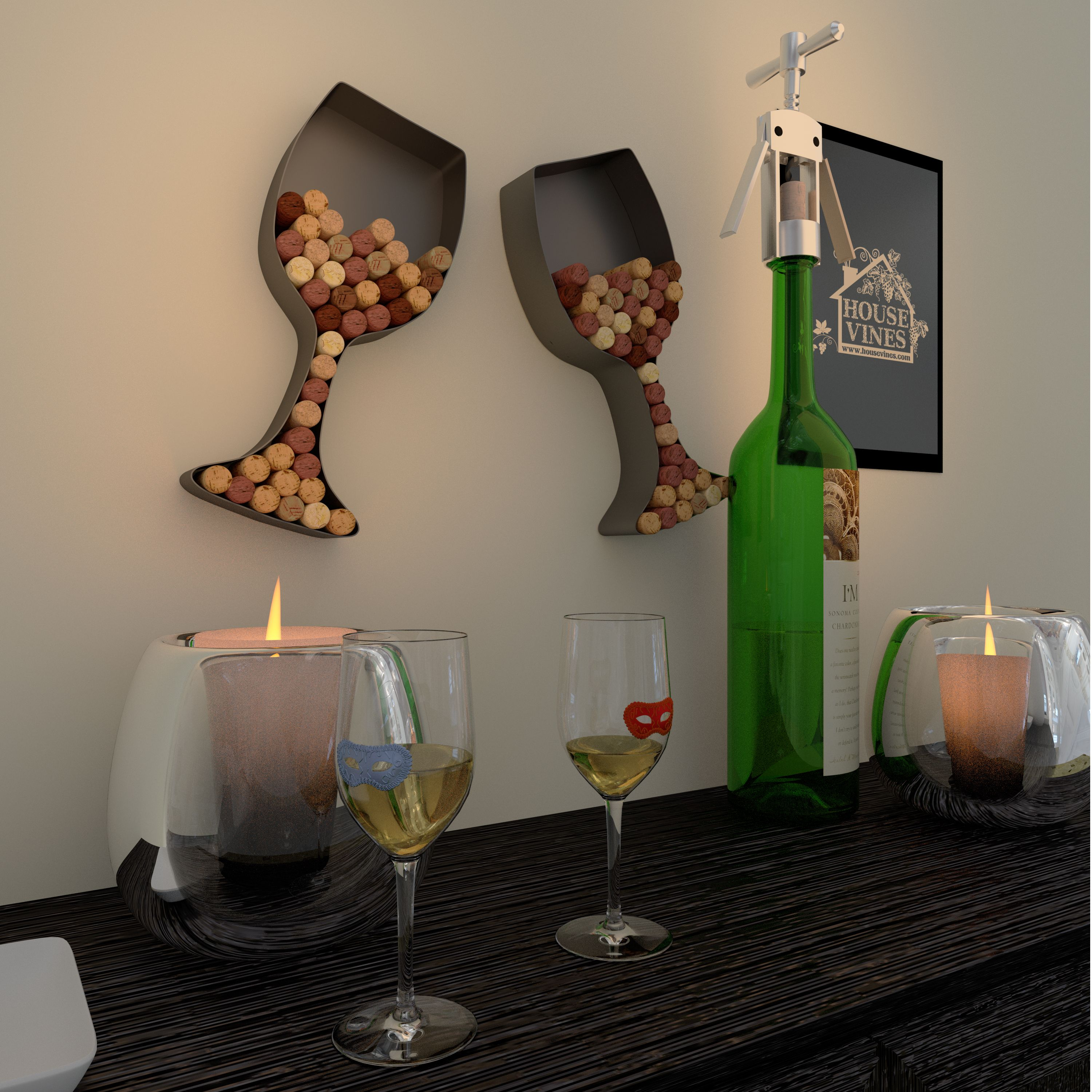 Wine Holders For Gifts Wine Glass Shaped Cork Holder Wine Wall Décor Art