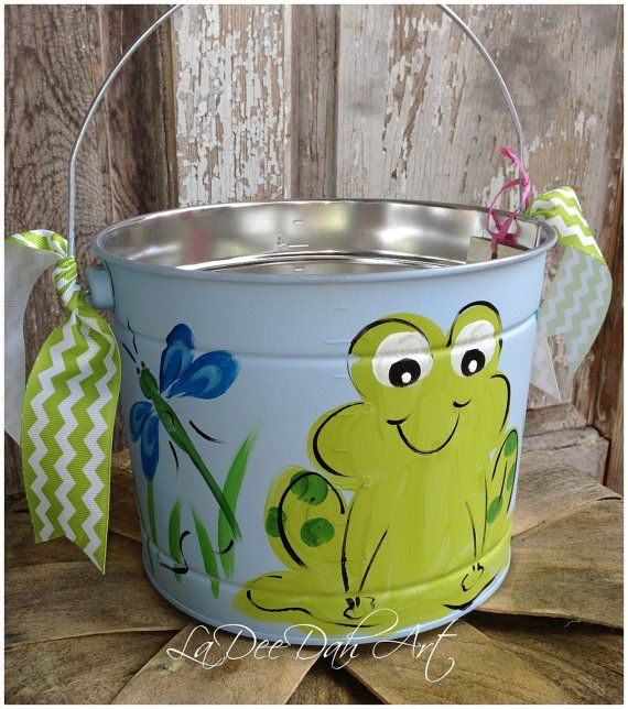 Free shipping easter bucket personalized hand painted tin free shipping easter bucket personalized hand painted tin negle Gallery