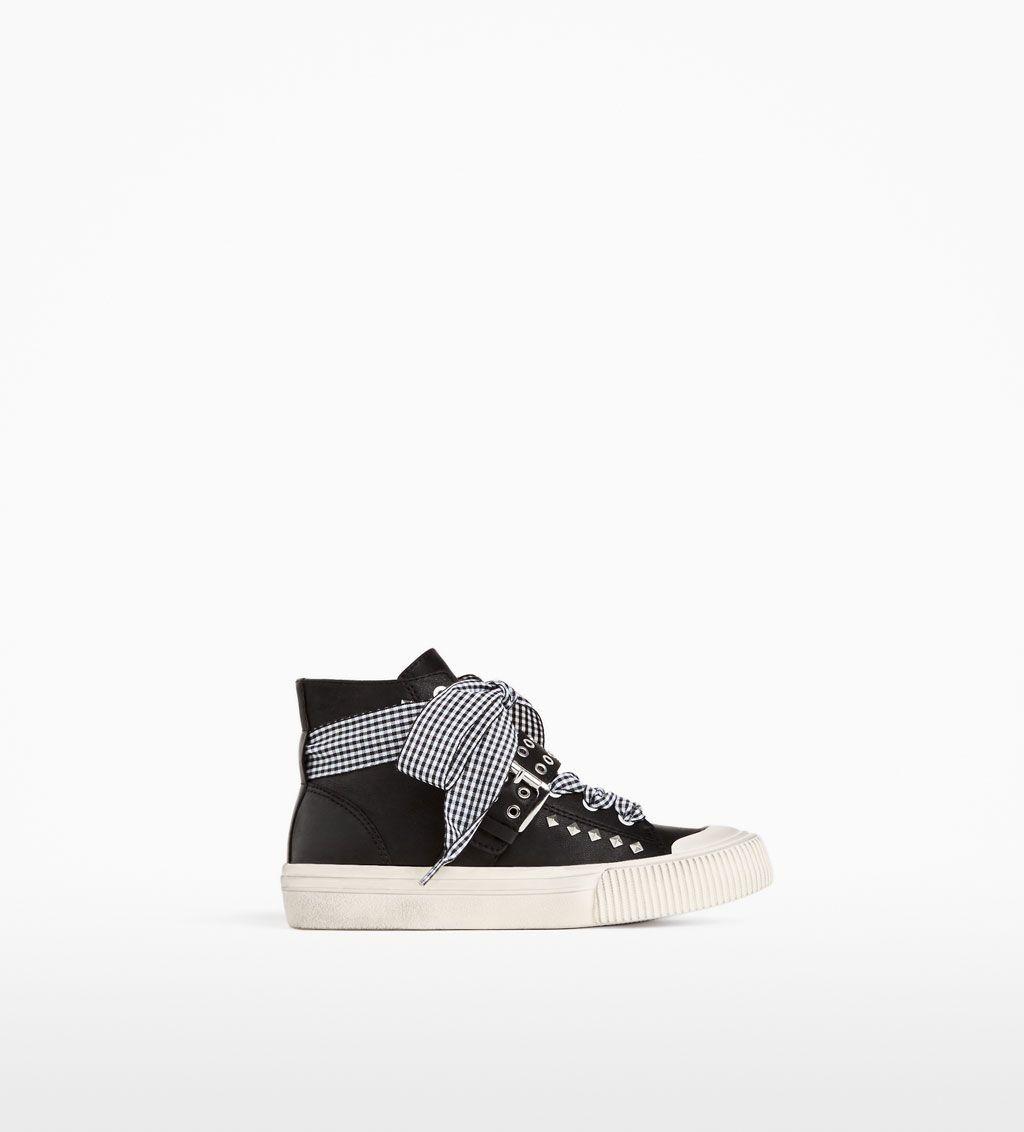 Footwear · BUCKLED HIGH-TOP SNEAKERS-SHOES-GIRL ...