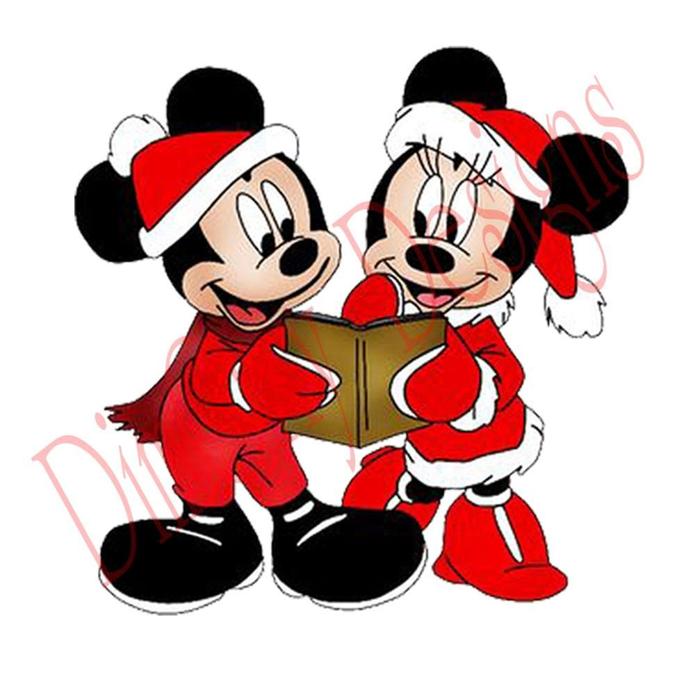 Christmas Window Static Cling Decor With Disney Mickey And Minnie With Christmas Book It Is P Christmas Cartoon Characters Mickey Mouse Mickey Mouse Christmas