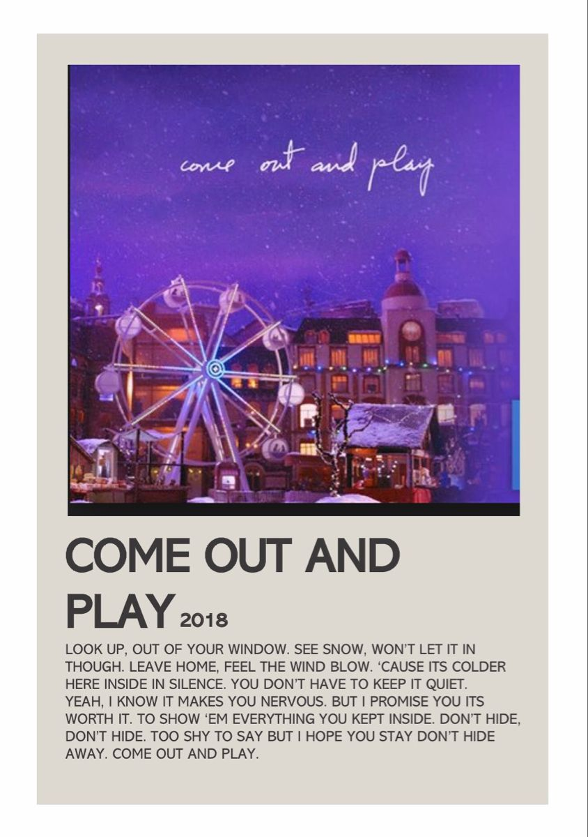 Come Out And Play Billie Eilish By Lola Music Poster Design Vintage Music Posters Play Poster