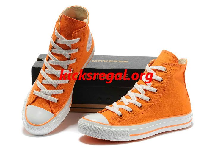 93cf21720148f7 Discount Kicksregal net Wholesale New Overseas Converse New Color Dazzling  Orange Chuck Taylor All Star High