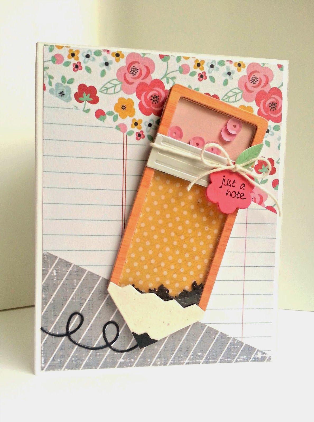Pencil Shaker Teacher Cards Cards Handmade Card Craft