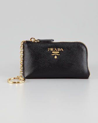 f7f870fde0e Saffiano Key Pouch by Prada