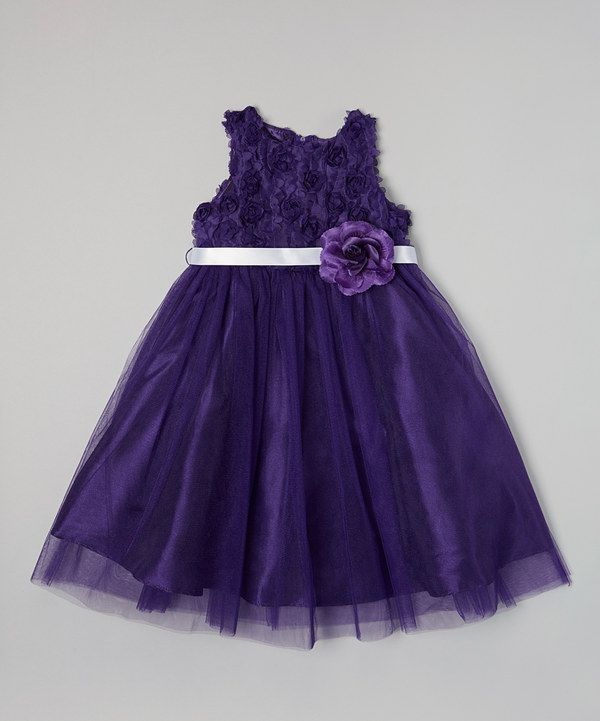 754e32fb3762 Another great find on  zulily! Purple Petal Flower Dress - Girls by ...