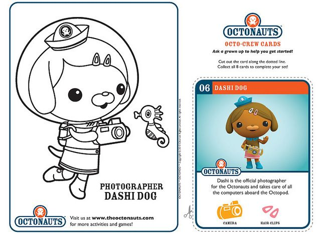 Dashi Dog Cartoon Coloring Pages Disney Junior Octonauts Party
