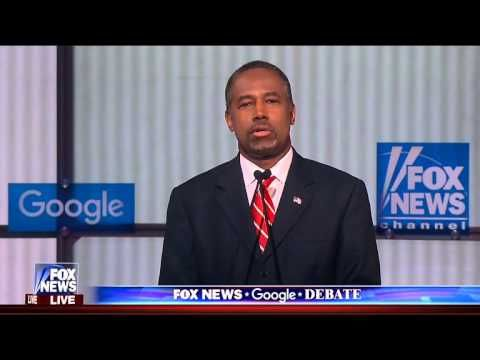 Ben Carson Busts Out Totally Unexpected Closing Statement During - closing statement
