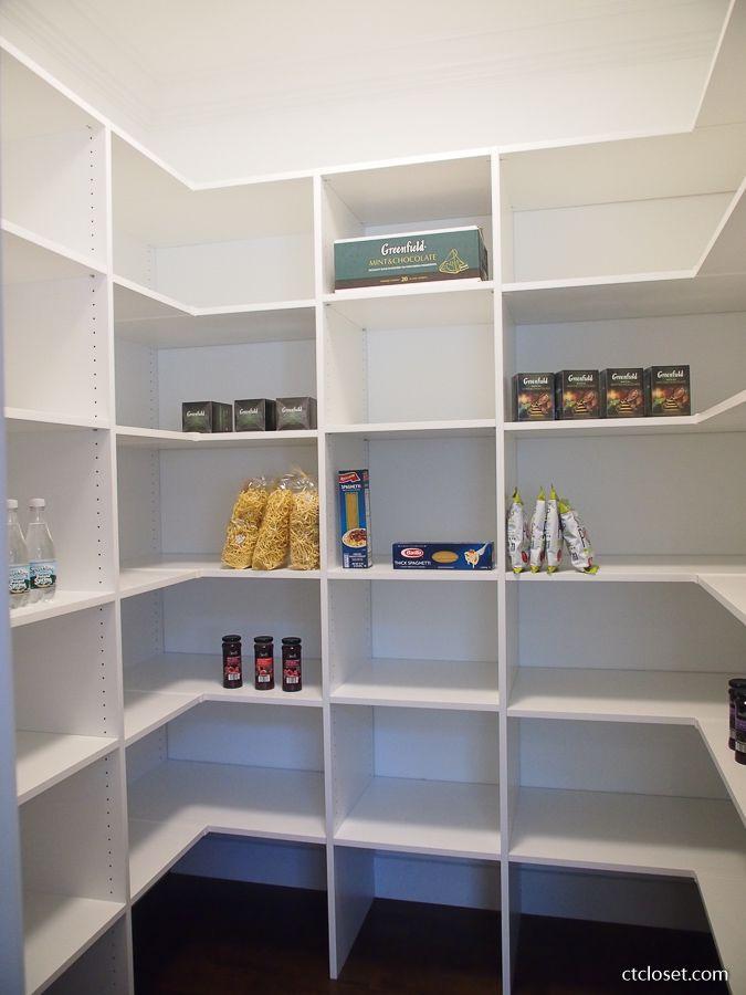 Download Wallpaper White Melamine Kitchen Pantry