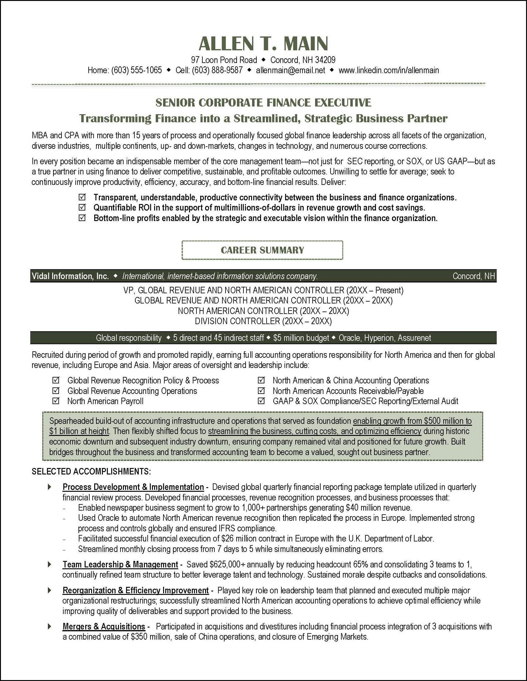 this accounting resume illustrates a number of resume