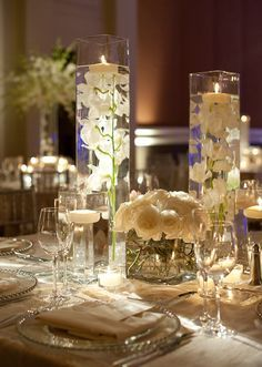 table centerpieces candles - Google Search