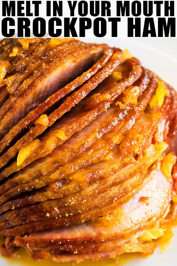Easy Slow Cooker Ham Recipe images