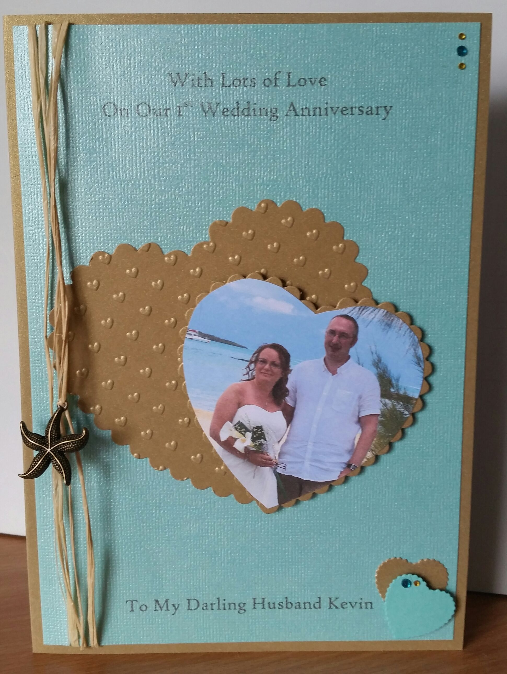 1st Wedding Anniversary Card For My Husband Wedding Anniversary Cards Anniversary Cards Handmade Anniversary Cards