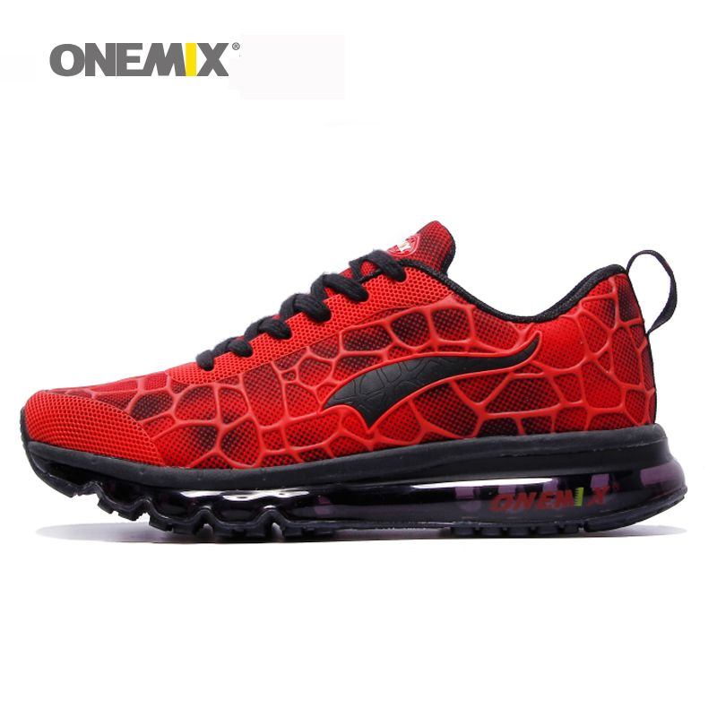 New Onemix men's running shoes breathable hommes sport chaussures de course  outdoor athletic walking sneakers plus