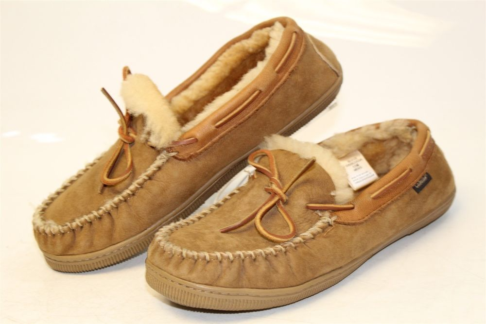 cfcbd44f2a1 Cabela's Mens 11 M Suede Shearling Moccasin Loafer Slippers Shoes 82 ...
