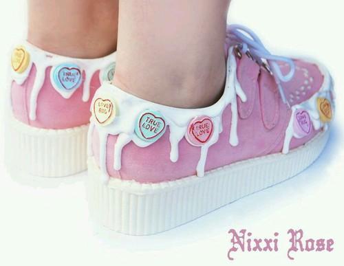 8ea253b3275 Kawaii pastel pink fairy kei creepers platform shoes fashion yes  cute -  plase