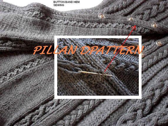 Cable Knit Coat Sweater Knitting Pattern Aran knit coat PDF pattern ...