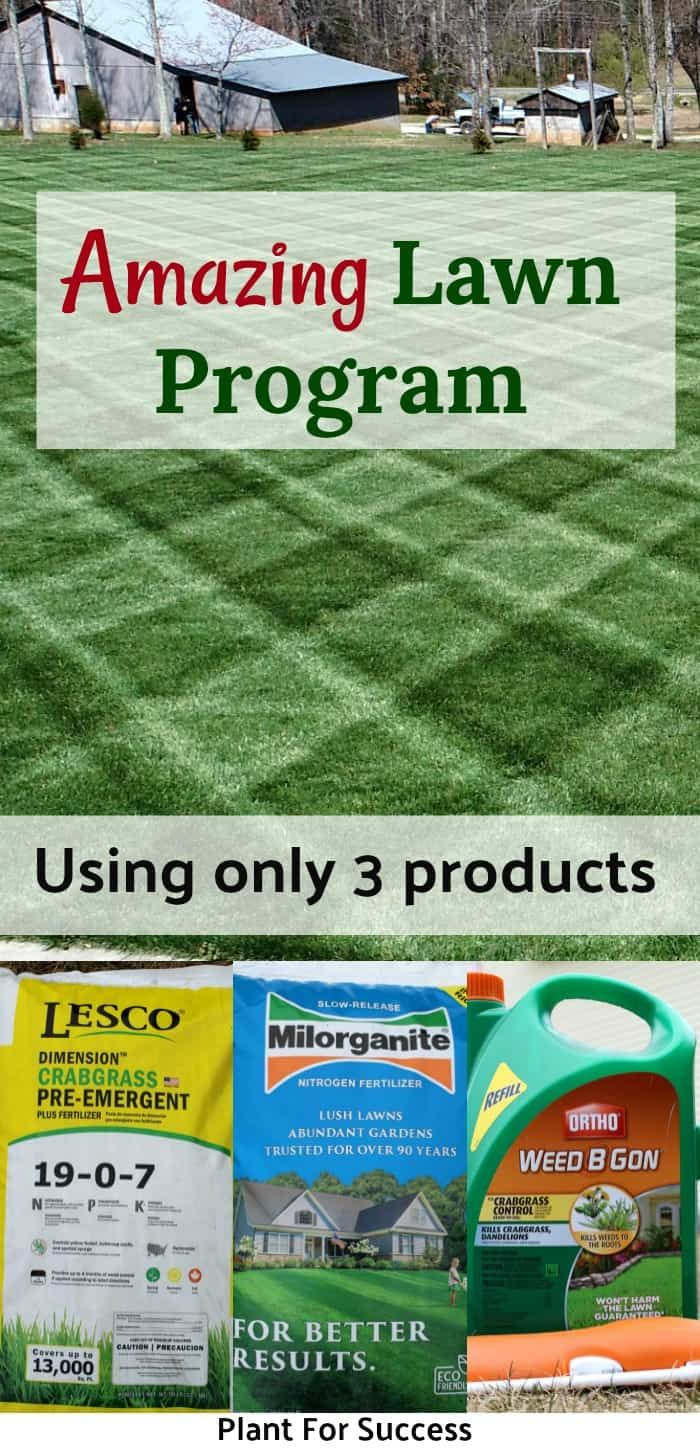 3 Product Lawn Care Schedule