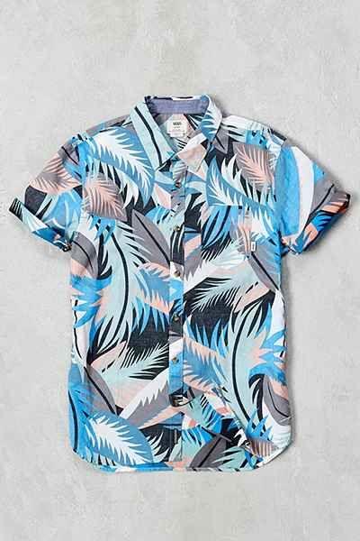 fe24126330 Vans Cosgrove Canton Stanton Floral Short-Sleeve Button-Down Shirt ...