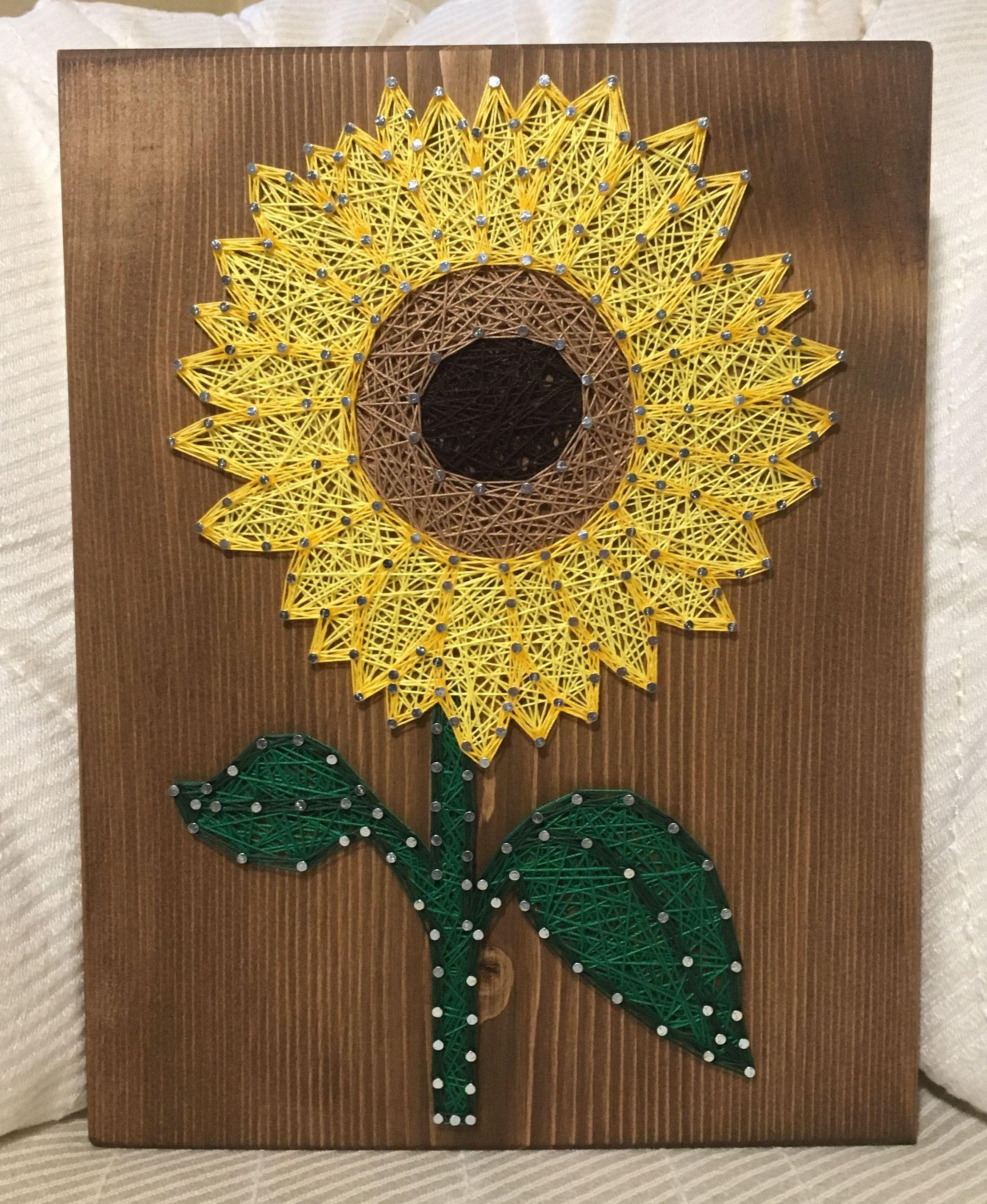 CUSTOM Sunflower String Art Sign, sunflower wall art, Flower Decor ...