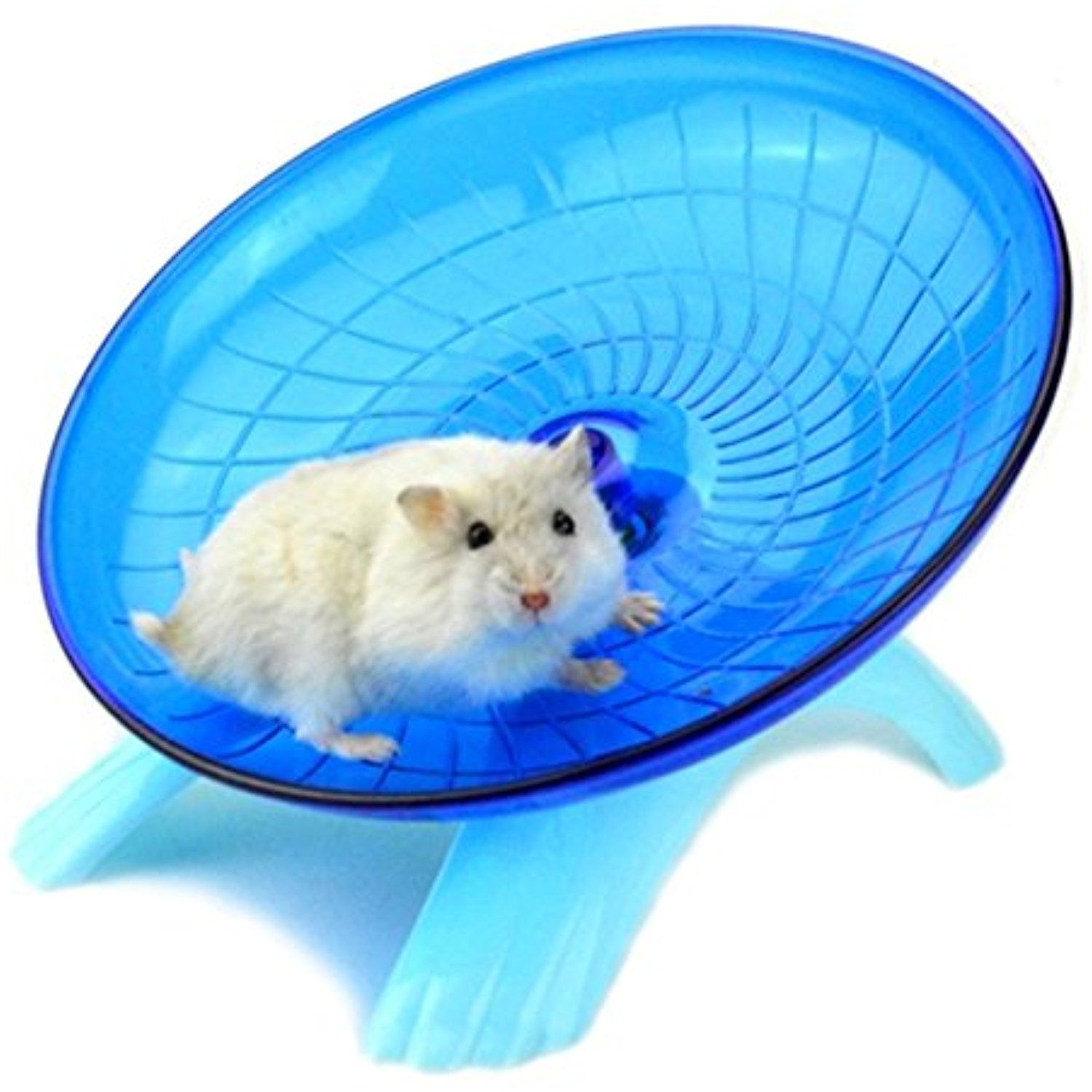 Zehui Cute Ultra Quiet Non Slip Hamster Toystable Flying Saucer Jogging Exercise Wheel Roller For Small Pets Blue 7 Check Out The Small Pets Hamster Pets