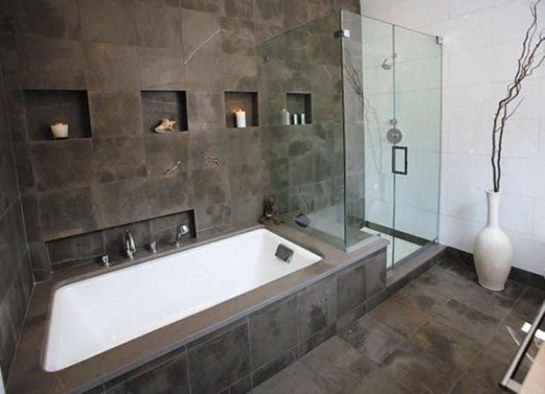 Using Natural Stone Bathroom Tiles