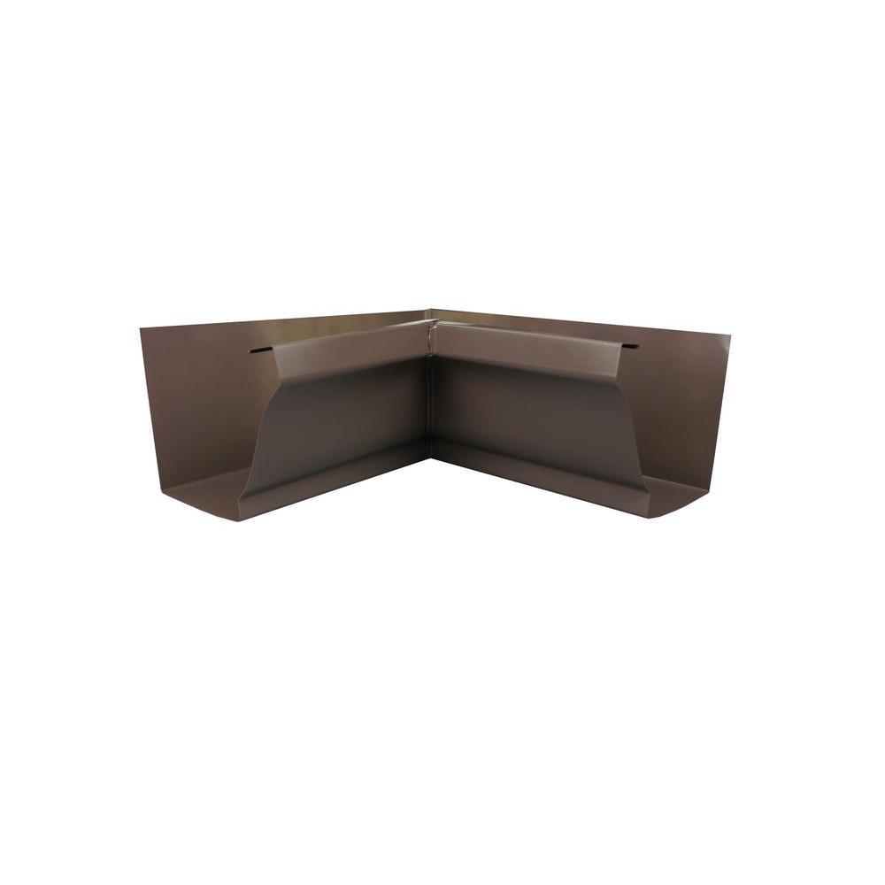 Spectra Metals 6 In Musket Brown Aluminum Inside Box Miter 6inmmb Gutter Accessories Metal Roof Metal