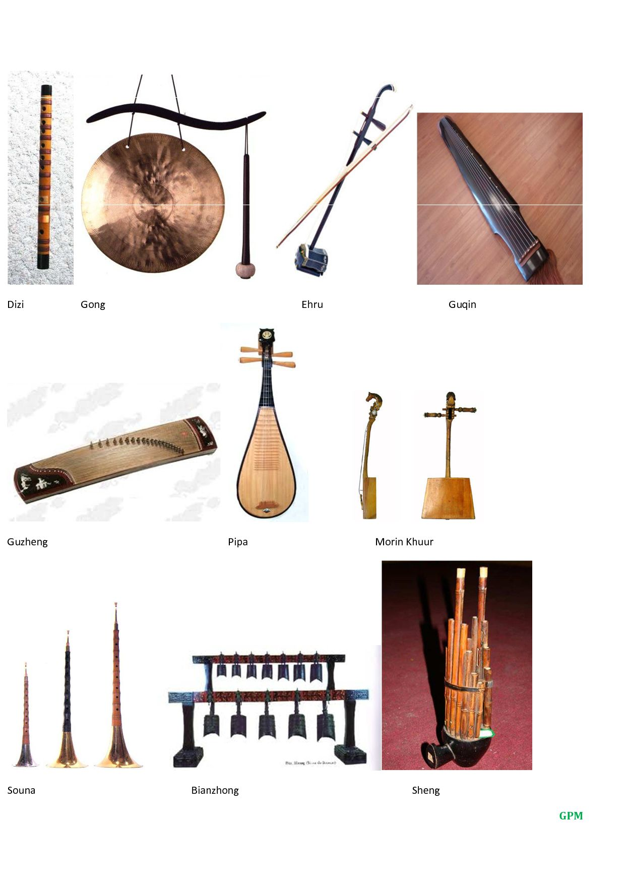 Music instruments asian