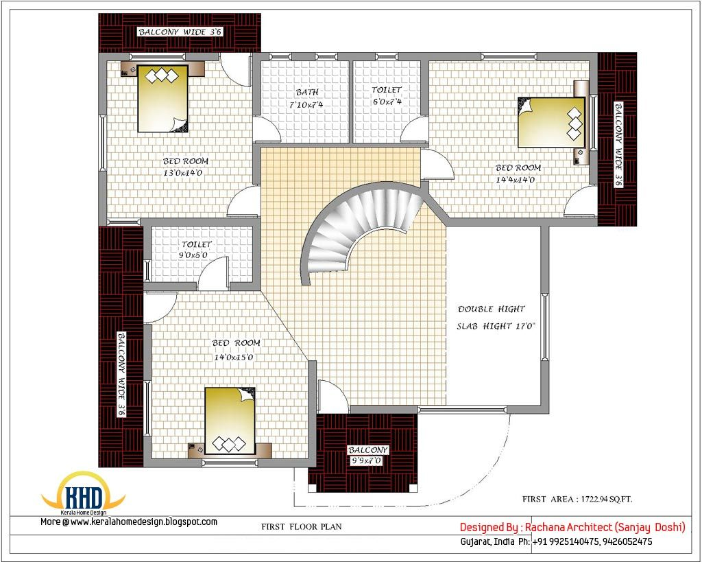 India home design with house plans 3200 Sq.Ft. Indian | cool house ...