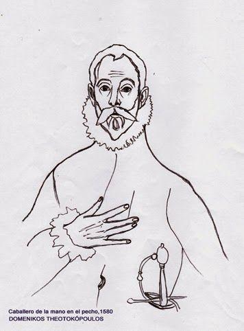 Dibujos para colorear del museo de El Prado. El caballero de la mano ...