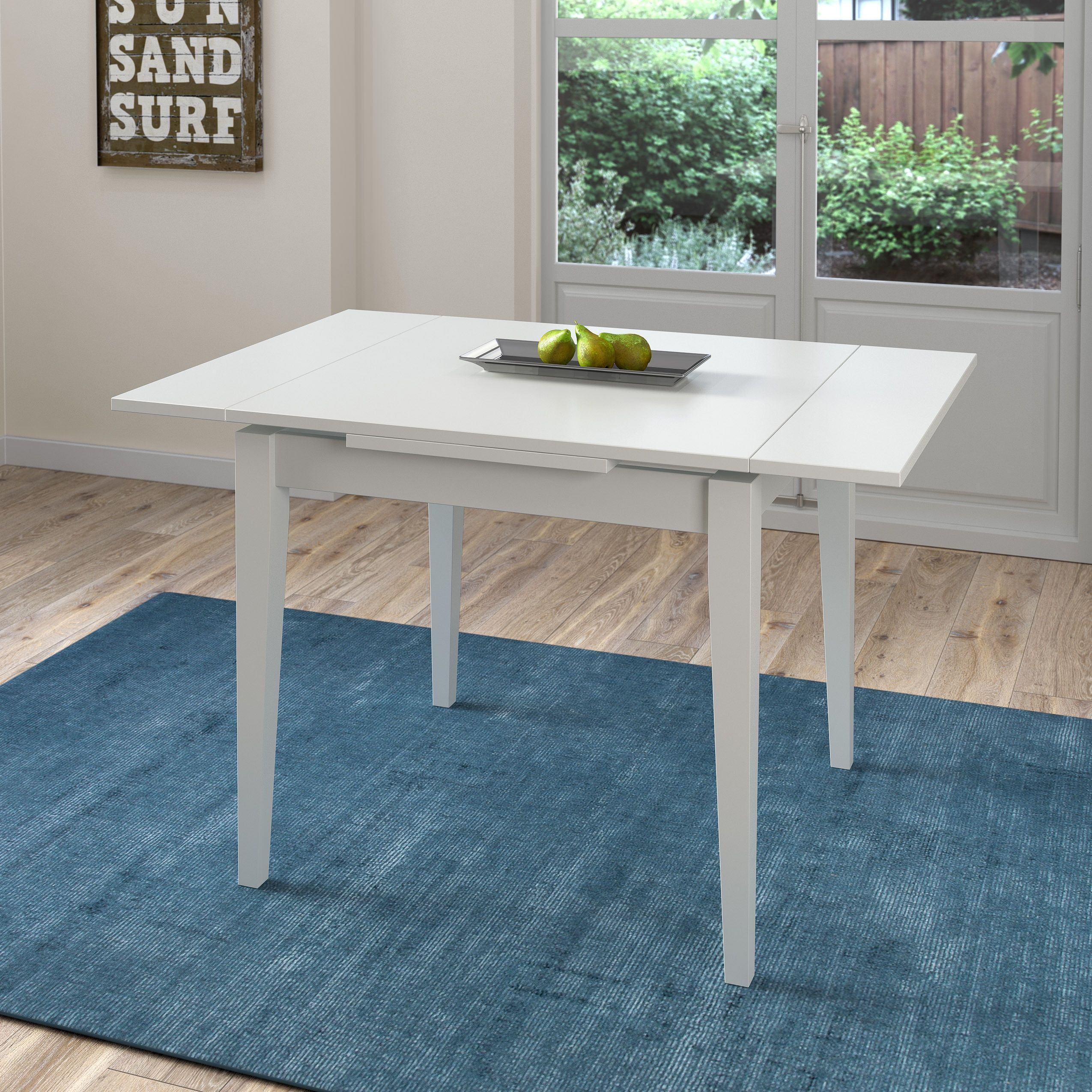 CorLiving Dillon White Extendable Dining Table with Two 8-inch ...