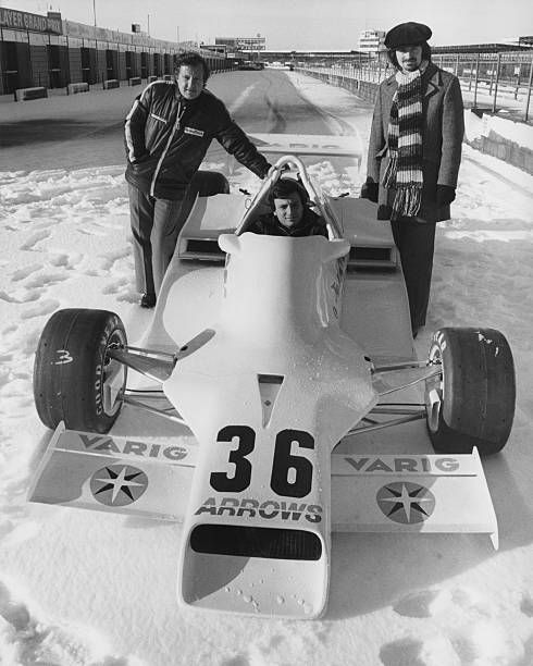 In The Snow Covered Pitlane Of Silverstone Riccardo Patrese Of Italy Sits Aboard The Controversial Arrows Racing Team Arrows Fa1 Ford Co Racing Racing Team Race Cars