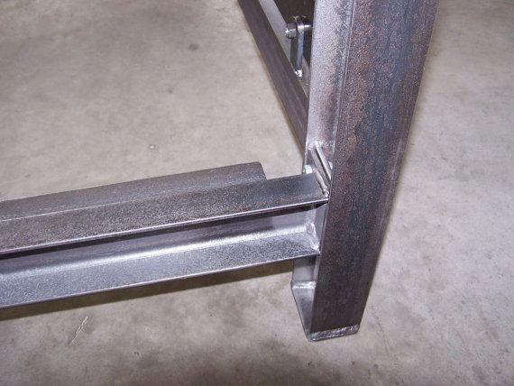 Industrial acero estructural viga muebles cama marco diamondplate ...