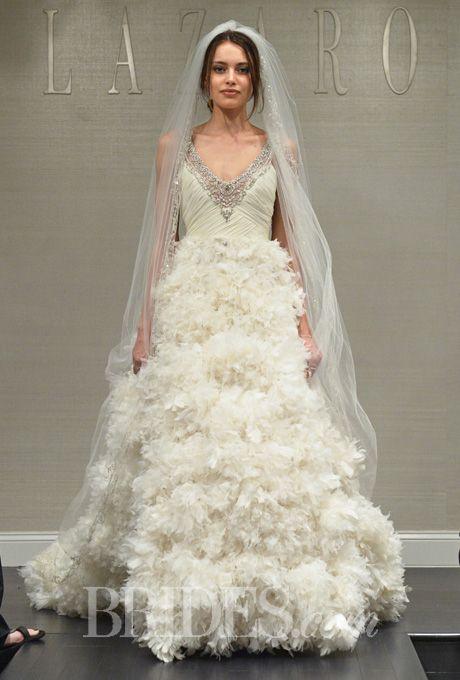 Lazaro Wedding Dresses Spring 2015 Bridal Runway Shows Brides
