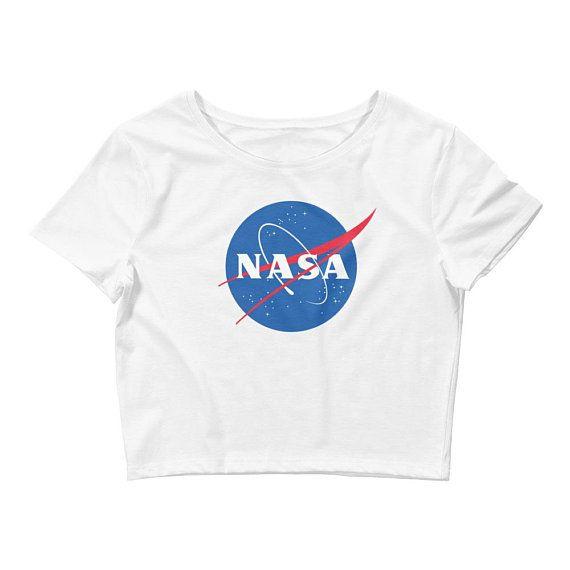 NASA Crop Top - Nasa shirt - Nasa tshirt - astronomy shirt - outer space  Women s Crop Tee gift for 35cbb01835379