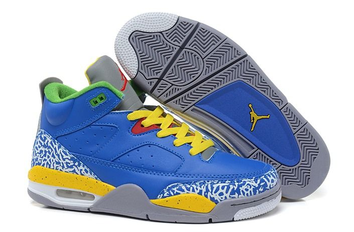 premium selection 87830 66e93 Baratos Nike Air Jordan Spizike 3.5 Azul Retro Amarillo Zapatillas