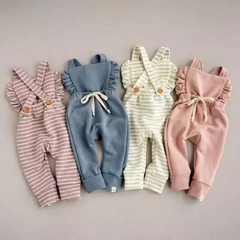 Us 3 28 32 Off Blotona Cute Kids Newborn Baby Boy Girl Cotton Linen Romper Solid Sleeveless Striped Jumpsuit Outfit Summer Casual Clothes 0 24m Rompers A Baby Girl Jumpsuit Trendy Baby Clothes