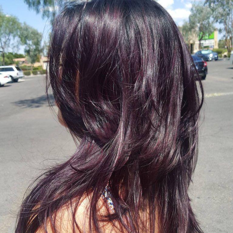 50 Stylish Dark Purple Hair Color Ideas — Destined to ...
