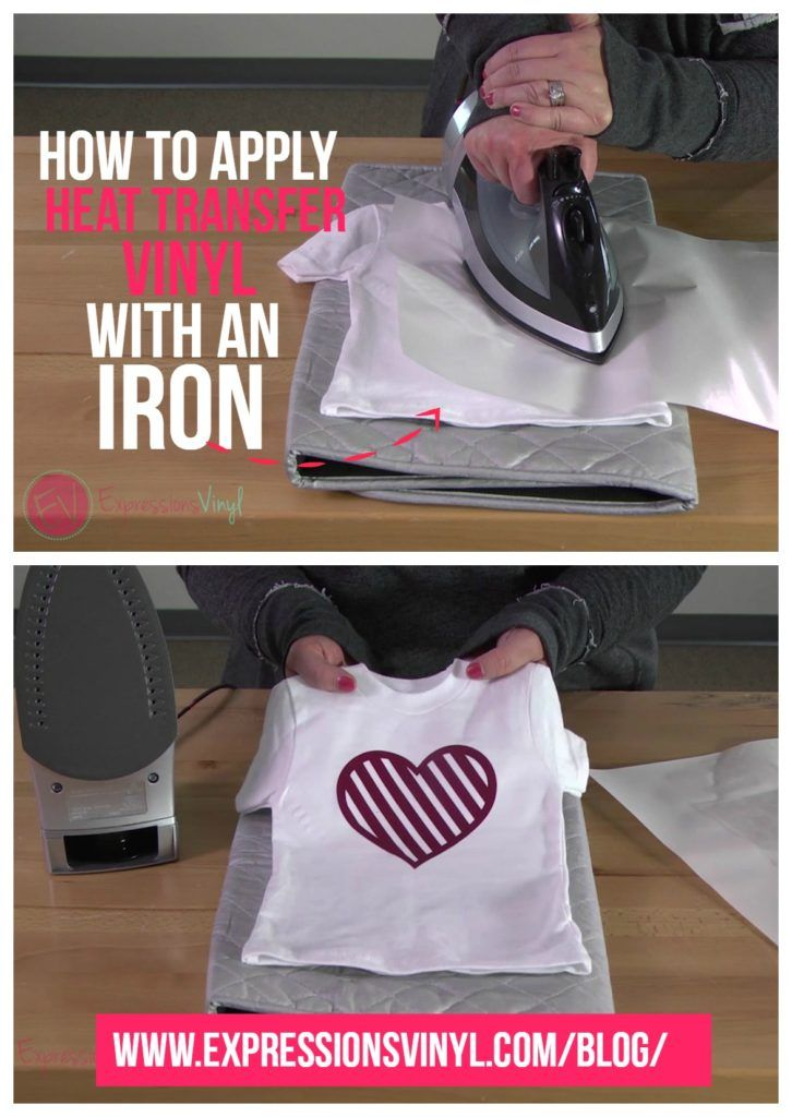 How To Apply Heat Transfer Vinyl With An Iron Iron On