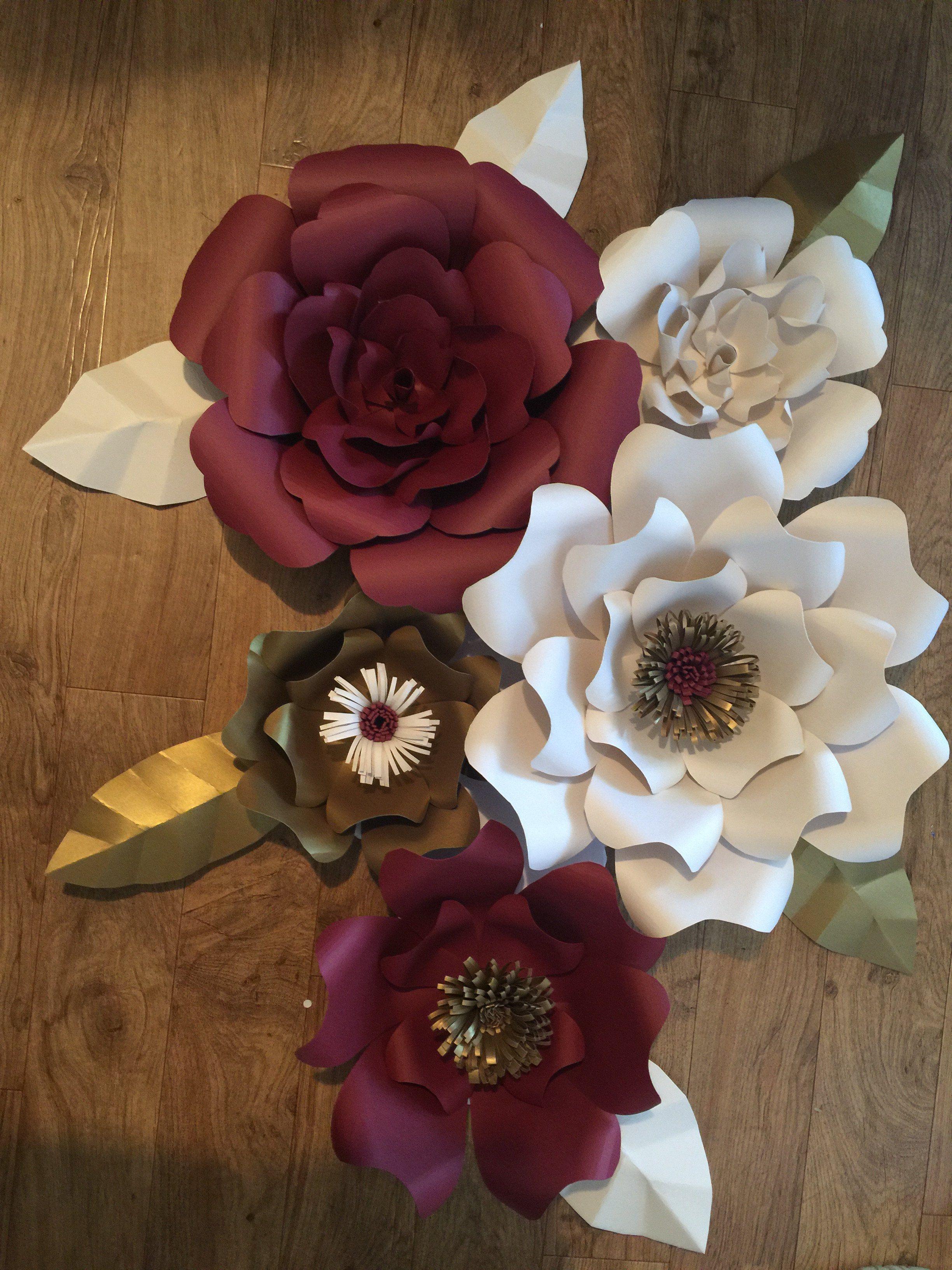 Paper Flower 5 Pc Diy Kit Flores De Papel Fondos Paper Flowers