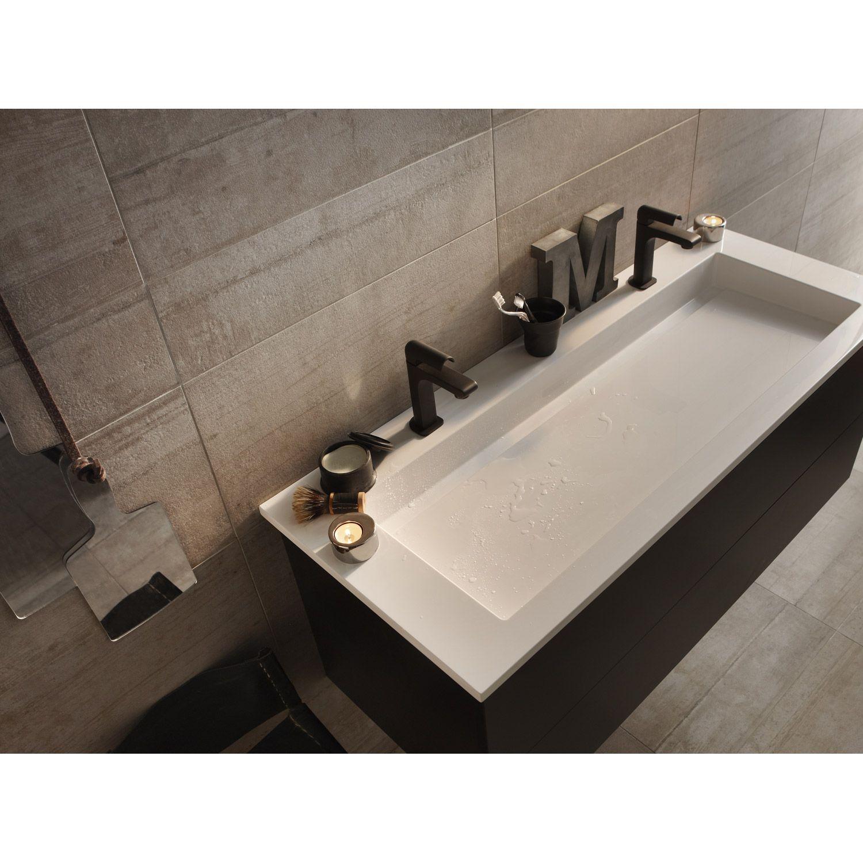 Vasque En Gres Carrelage Intérieur Industry En Grès Cérame émaillé , Beige, 15x60cm |  Leroy Merlin Vasque Leroy