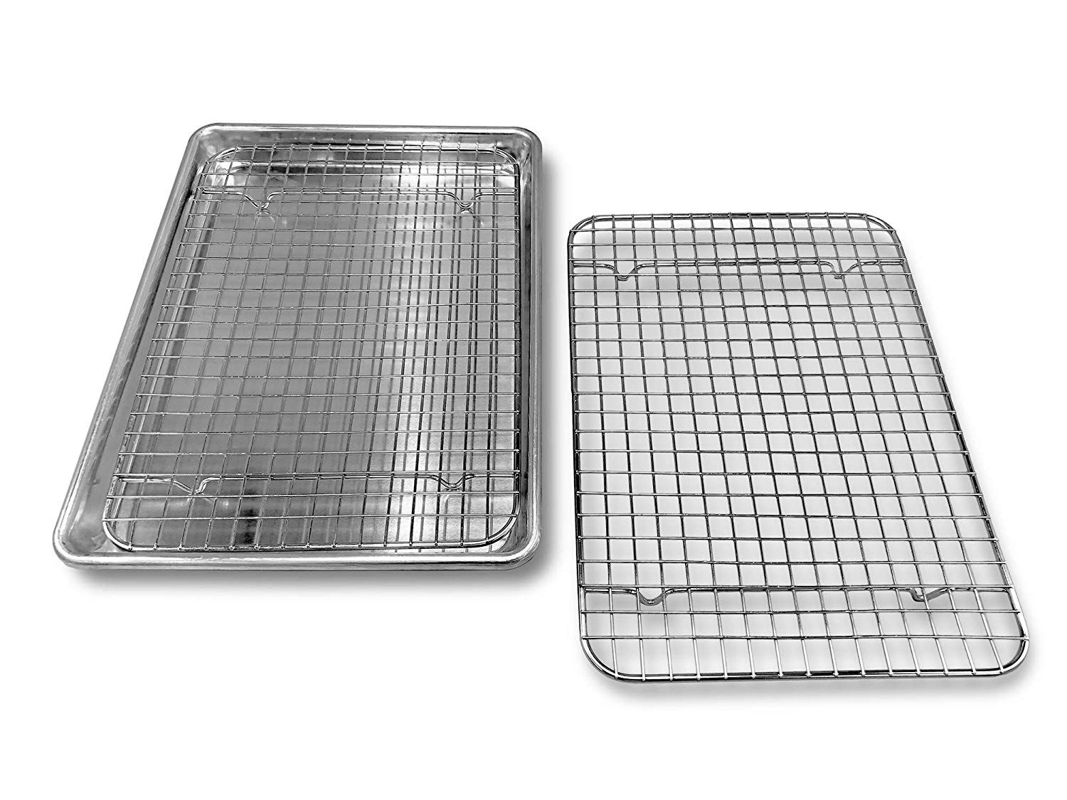 Goson Heavy Duty Stainless Steel Bakeware Quarter 1 4 Size Cross Wire Rack 8 5 Inches By 12 Inches And Bakin Stainless Steel Bakeware Oven Pan Baking Sheets